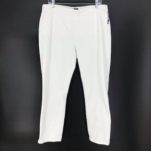 NYDJ Sz 14 Alina Pull On Ankle Jeans White Denim